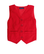 RuggedButts Infant / Toddler Boys Red Corduroy Vest