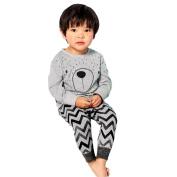 Yoyorule Baby Boys Girls Long Sleeve Cartoon T-Shirt Tops+Pants Clothes Outfits (110