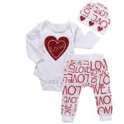 CocoMarket 2pcs Newborn Baby Tops+Long Pants Outfits - Heart Print