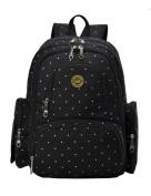 Vlokup Best Multifunction Designer Baby Nappy Bag Backpack Travel Nappy Bag for Stylish Moms & Dads Smart Organise System Waterproof with Baby Bottle bag, Changing Pad, Stroller Straps Black Dot
