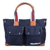 Nappy Tote Bag, MixMart Nappy Bag with Changing Pad and Stroller Straps - Navy Blue