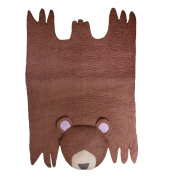 Nursery Decor - Children's Playmat - Bear Felted Wool Rug