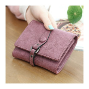 HeySun Leather Small Wallet Clutch Pure Colour Simple Credit Card Holder Purse Case for Women
