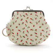 Shuohu Women's Small Wallet Holder Coin Purse Clutch Cute Lovely Floral Handbag Bag