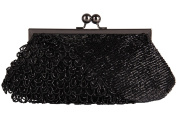 Grace Angel Beaded Sequ in Kissing Lock Evening Clutch GA15223BM