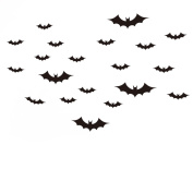 MuLuo PVC Waterproof Removable Decoration Halloween Party Bat Wall Decoration Stickers