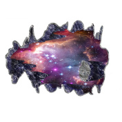 MuLuo 3D Space Galaxy Meteorite Wall Sticker Decal For Living Room Bedroom TV Background