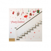 MuLuo PVC Removable Christmas Gifts Wall Stickers for Shop Window Living Room Bedroom
