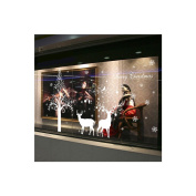 MuLuo White Tree Wall Window Removable Stickers Christmas Decoration + Elk Sticker