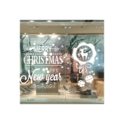 MuLuo Removable Christmas White Snowflakes Bells Glass Wall Window Electrostatic Stickers