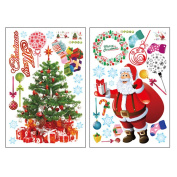 MuLuo Removable PVC Christmas Tree Gift Wall Window Sticker + Santa Claus Sticker