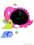 Dinosaur Kids Wall Sticker Peel & Stick Dinosaurs Dino Blackboard Room Art Mural