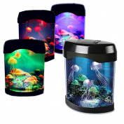 Childrens Aquarium Light Jellyfish Tank Mood Light Night Lamp Simulation Marine Background