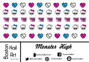 Monster High - Waterslide Nail Decals - 50pc