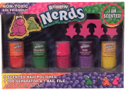 Rainbow NERDS Scented Nail Polish Set with Toe Separator & Nail File
