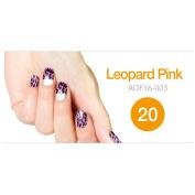 Art Ongle Nail Polish Strips, Nail Colour [Leopard Pink]