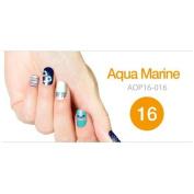 Art Ongle Nail Polish Strips, Nail Colour [Aqua Marine]