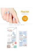 Art Ongle Nail Polish Strips, Nail Colour [Pixel Art]