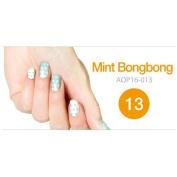 Art Ongle Nail Polish Strips, Nail Colour [Mint Bongbong Dots]