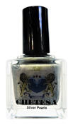 CHETESA Gems Collector Nail Lacquer Non-Toxic, Silver Pearls, 15ml