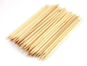 50pcs Orange Wood Sticks Nail Art Cuticle Pusher Remover Manicure Pedicure Multi--functional Tool