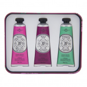 La Chatelaine 20% Shea Butter Hand Cream Tin Gift Set, EGGPLANT, 3 x 30ml