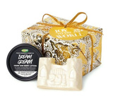 Lush Joy to The World Gift Set Dream Cream Lotion and Snowcastle Soap