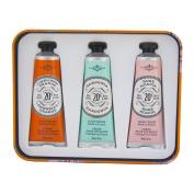 La Chatelaine 20% Shea Butter Hand Cream Tin Gift Set, ORANGE, 3 x 30ml