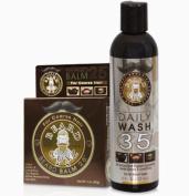 Beard Guyz Beard Daily Wash 35 and Beard Balm 25 for Coarse Hair Set