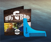 Beard Shaping Template Comb BigBro for Men/ Perfect Symmetric Lines for Moustache Goatee Side Burns Neck / Use With A Trimmer Or Razor To Style Facial Hair For Line Up