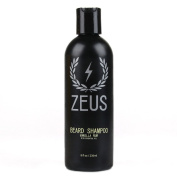 Zeus Beard Shampoo and Wash for Men - 240ml - Beard Wash with Natural Ingredients (Scent
