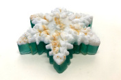 Christmas All Natural Handmade Glycerin Soap Winter Decoration Green Snowflake Hand Soap Bar Ocean Breeze Scent Perfect Christmas Gift