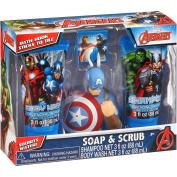 Marvel Avengers Soap & Scrub Gift Set, 4 pc Body Wash Shampoo