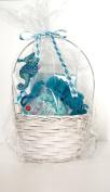 3 pc Aqua Beauty Bath Gift Bundle Basket w/Free Ornament