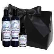 Simply Radiant Beauty Organic Bath & Body Gift Set includes 60ml Mini Coconut Milk Lotion, 60ml Body Wash & 60ml Hand Sanitizer Gift Set