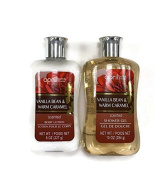 April Bath and Shower Vanilla Bean and Warm Caramel Shower Gel and Body Lotion