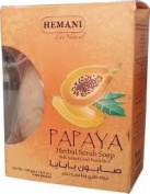 Hemani Halal Papaya Herbal Scrub Soap 120gm