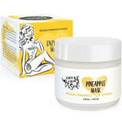 Anti Ageing Face Mask - Anti Wrinkle Enzyme Peel & Facial Exfoliator - For Soft Smooth Skin - Treatment For Acne Scar Removal Oily Skin & Blackhead Remover - 90% Best Organic Pineapple & Papaya - 120ml