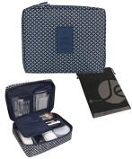 JAVOedge Pattern Multifunctional Cosmetic / Toiletry Travel Bag (21cm x 16cm x 7.9cm ) w/ Pockets for Makeup Brush Storage