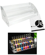 JAVOedge 3 Tiers Nail Polish Acrylic Display Holder Stand Fits Up To 30 Nail Polish Bottles