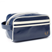 Fred Perry Classic Travel Kit Bag - Navy Blue and Ecru