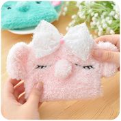 Cute Lovely Soft Plush Elephant Napkin Bag Card Case Storage Bag in Bag