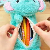 Cute Lovely Soft Plush Elephant Pen Bag Cosmetic Makeup Bag Pouch Glasses Bag