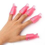 Onwon 10pc Professional Plastic Acrylic Nail Art Soak Off Cap Clip Uv Gel Polish Remover Wrap Cleaner Clip Cap Tool