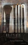 Beautique Makeup Cosmetic Brush Set (6pc) To-Go Travel Set