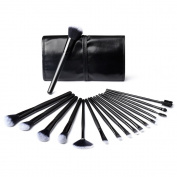 SKM Makeup Brushes, 32pcs Professional Cosmetic Brushes, Blending Brush Eye Shadow Face Powder Blush Eyebrow Makeup Brush Set with Brush Case