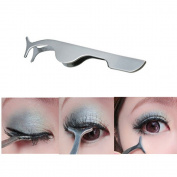 Interesting® Eyelashes Clip Extension Stainless Steel Eyelash Applicator Tweezers Tool