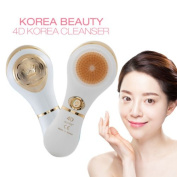 Korean Beauty 4D Auto facial brush D Type - Ivory Gold Motion Cleanser Facial