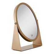 1x/5x Dual-Sided Oval Vanity Mirror in Gold