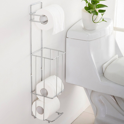Wall Mounted Metal Toilet Paper Roll Holder Stand Amp Roll